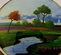 Rare Austrian Hand Painted Solid Sterling Silver Enamel Box c.1910 (5 of 8)