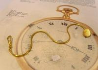 Vintage Pocket Watch Chain 1970s 12ct Gold Plated Albert & Ornate Button Hole Fob (3 of 10)