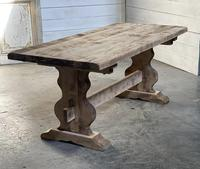 French Bleached Refectory Farmhouse Dining Table (14 of 21)
