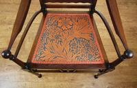 Edwardian Art Nouveau High Back Open Armchair (8 of 10)