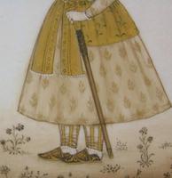 Good Pair of 19th Century Indian Paintings Aurangzeb & Dilras Banu Begum (7 of 11)