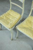 Pair of Regency Style Painted Dining Chairs (7 of 10)
