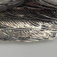 Antique Large Pair of European Sterling Silver Pheasants c.1900 (10 of 10)