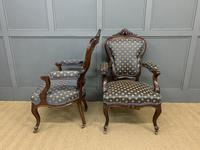 Pair of 19th Century French Rosewood Armchairs (4 of 16)