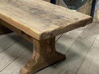 Superb Very Rustic French Oak Bleached Oak Farmhouse Dining Table (7 of 32)