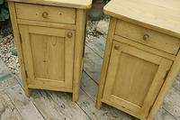 Cute & Quality Old Stripped Pine Bedside Cabinets (4 of 9)