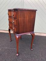 Antique Mahogany 3 Draw Bedside Chest (4 of 8)