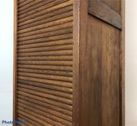 Antique French Tall Filing Cabinet Tambour Roller Shutter (5 of 10)