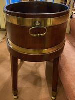 19th Century Brass Bound 'Coopered-Mahogany' Oval Wine Cooler (2 of 4)