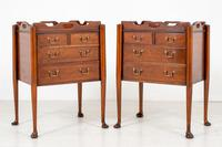 Pair of  Mahogany Queen Anne Style Bedside Cabinets (6 of 12)