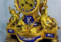 Fine Ormolu Porcelain Cherub Mantle Clock (6 of 10)