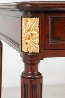 Very Good Quality French Mahogany 2 Drawer Side Table (6 of 11)
