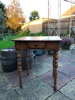 Antique 18th Century French Solid Fruitwood Rustic Side Table With Drawer (2 of 6)