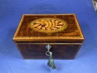 18th Century Mahogany Twin Tea Caddy with Shell Inlay (3 of 17)