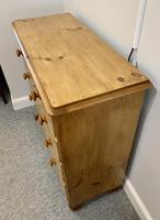 Antique Victorian Pine Chest of Drawers with Key (6 of 15)