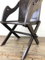 Unusual Antique Oak Gothic Armchair (7 of 9)