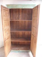 Handmade Indian Mango & Teak Large Painted Green 2 Door Storage Cupboard (12 of 12)