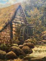 H Sinclair Jackson Superb 19th Century Watermill Landscape Oil Painting (4 of 14)