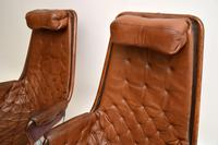 Pair of Vintage Leather Swivel 'Jetson' Armchairs by Bruno Mathsson (7 of 11)