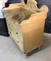 Early Victorian Pine Chest of Drawers in Original Paint (14 of 17)