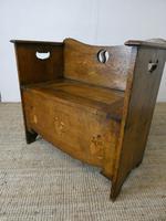 Liberty Arts & Crafts Oak Hall Bench (10 of 11)