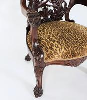 Mid-19th Century French Carved Walnut Desk Chair (4 of 12)
