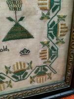 """Large Antique Needlework Sampler 1835 Mary Ann Fulcher 13yrs in Frame 14"""" x 19"""" (4 of 12)"""