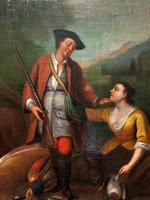 Circle of John Theodore Heins Fine Large 18th Century Hunting Oil Painting (6 of 11)