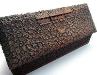 Magnificent North Indian Antique Hand Carved Sandalwood Box Wood Casket, 19th Century India c.1860 (8 of 11)
