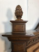 Antique French Stunning Huge Oak Bed Frame & Pot Cupboard (4 of 16)
