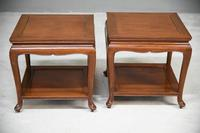 Pair of Chinese Rosewood Side Tables (2 of 13)