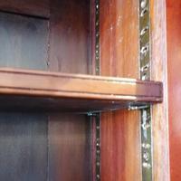 Victorian Mahogany Glazed Bookcase / Bureau with pigeon holes (3 of 14)