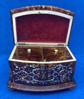 Victorian Tortoiseshell Tea Caddy with Mother of Pearl Inlay (18 of 20)