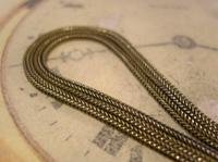 Antique Pocket Watch Chain 1890s Victorian Silver Nickel Fancy Albert With T Bar (8 of 12)