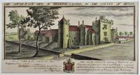S & N Buck, Tiverton Castle, Devon, 1734, Early Copy Of Antique Print, Framed (7 of 7)