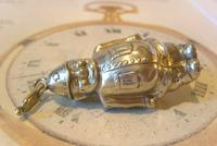 Antique Pocket Watch Chain Fob 1890s Victorian Silver Nickel Policemen Fob (2 of 10)