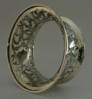 Rare English Solid Sterling Silver Potato Dish Ring London 1917 Antique (7 of 12)