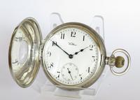 Antique Silver Waltham Traveler Half Hunter Pocket Watch (2 of 6)