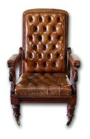 Victorian Mahogany Reclining Library Chair (4 of 7)