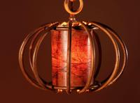 Pair of 1960s Very Decorative Rattan Hanging Lights (6 of 7)