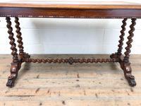 Antique Walnut Table with Barley Twist Legs (3 of 10)