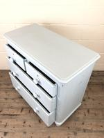 Small Victorian Blue Pine Painted Chest of Drawers (8 of 11)