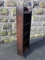 Antique Slim Oak Open Bookcase (4 of 7)
