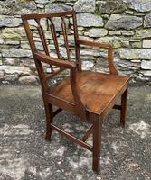Antique Country Oak Armchair (6 of 14)