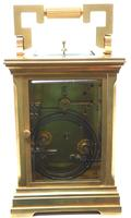 Superb Large Antique French 8-day Striking Carriage Repeat Feature Clock c.1880 (6 of 13)