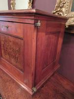 Antique Walnut Three Drawer Filing Cabinet c.1900 (8 of 9)