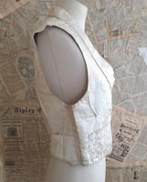 Antique Victorian Ivory Colour Silk Waistcoat (7 of 12)