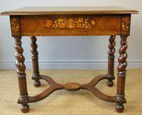 Good Dutch Marquetry Walnut & Kingwood Inlaid Table (6 of 11)