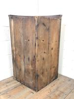 Antique Oak Bow Front Corner Cupboard (8 of 8)