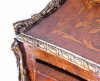 Empire Escritoire Desk - Antique Chest Drawers Inlay 1880 (3 of 6)